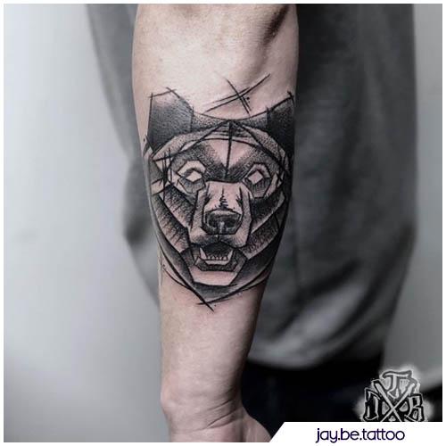 sketch tatuaggio orso