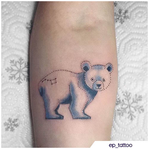 cute tattoo orso polare