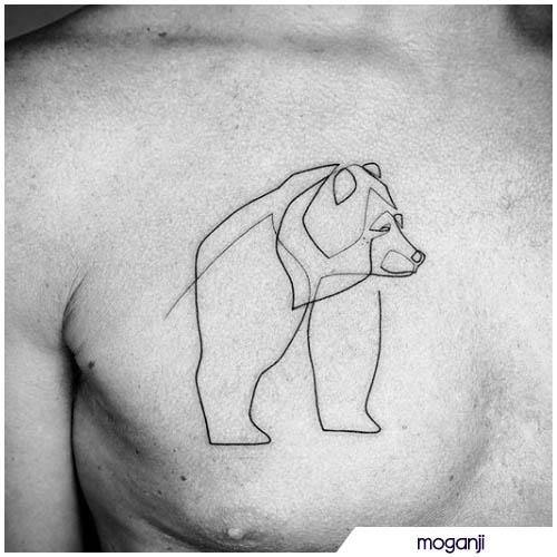 tatuaggio orso minimal
