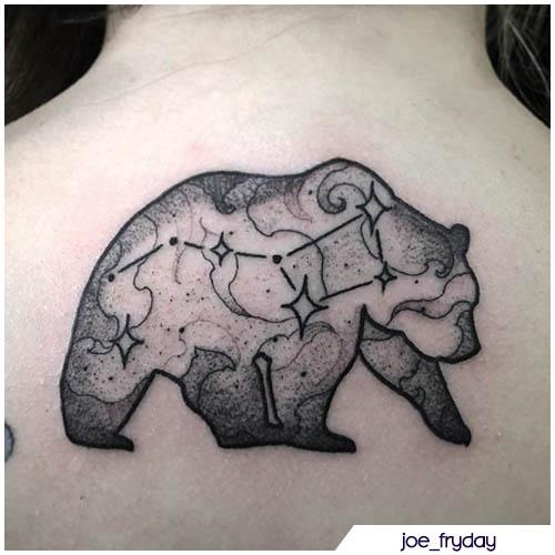 tatuaggio orso costellazione