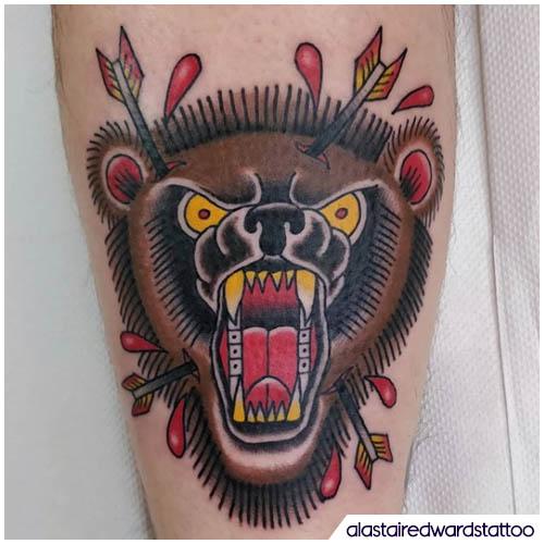 tatuaggio orso tradizionale