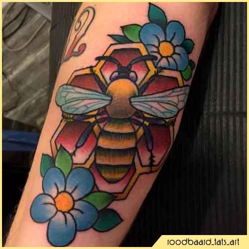 Tatuaje de mono mellifera