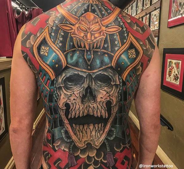 tatuaggio giapponese teschio