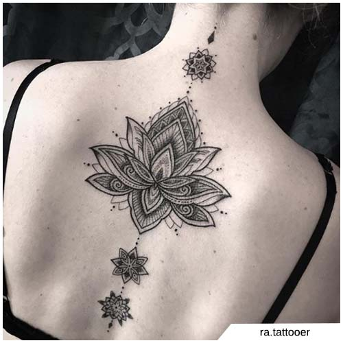 schiena mandala loto