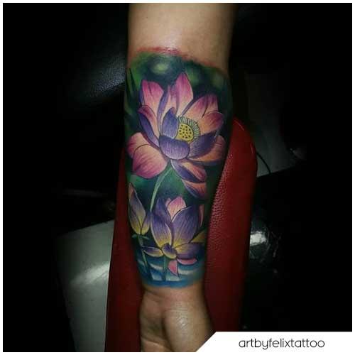 tattoo loto realistico