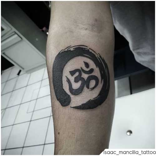 Om Tattoo ouroboros