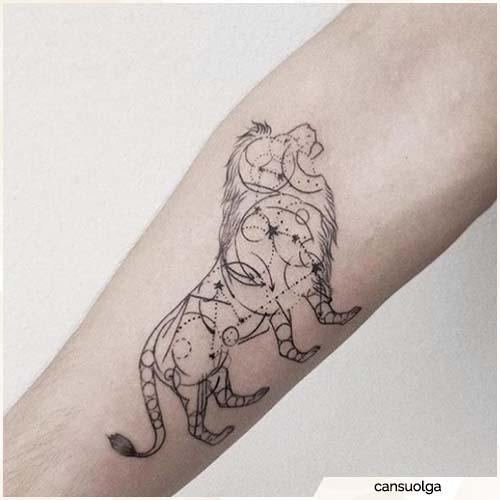 tatuaje constelación de león