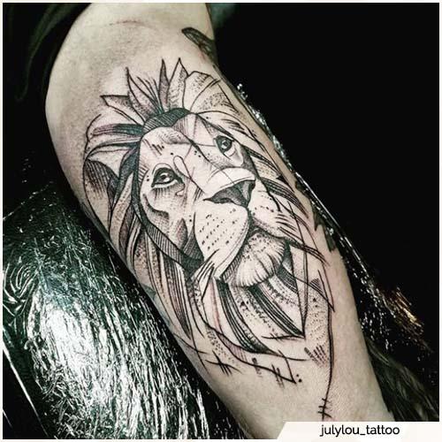 tatuaggio leone omero
