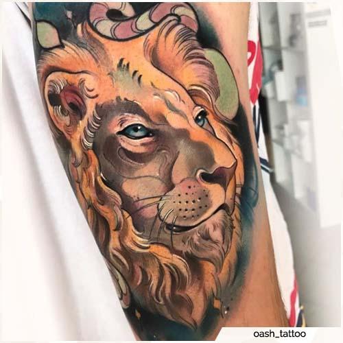 tatuaje león oash_tattoo