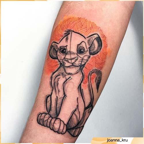 tatuaggio leone simba