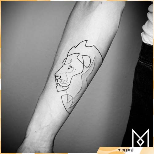 tatuaje de león estilizado