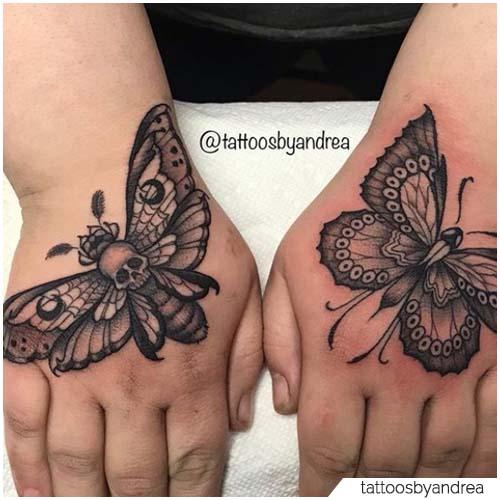 tatuaggio falena farfalla