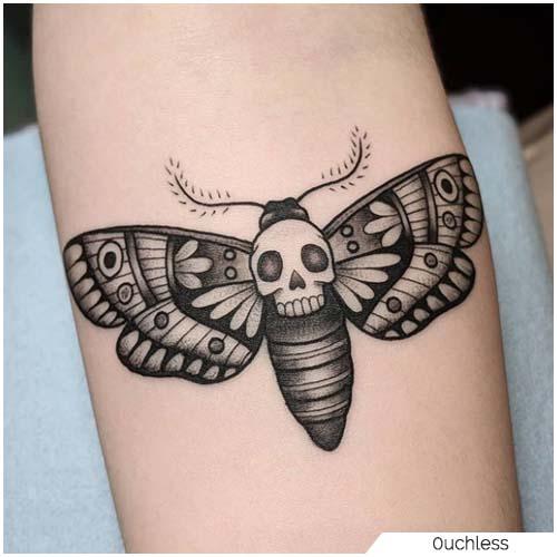 Tatuaggio Falena testa di morto