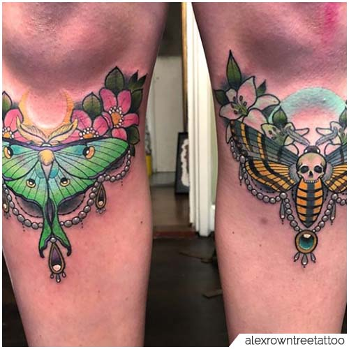 Tattoo Falena stinchi