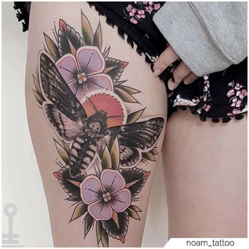 Tattoo Falena Coscia