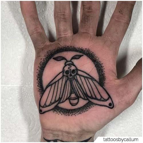 Tattoo Falena Palmo della mano