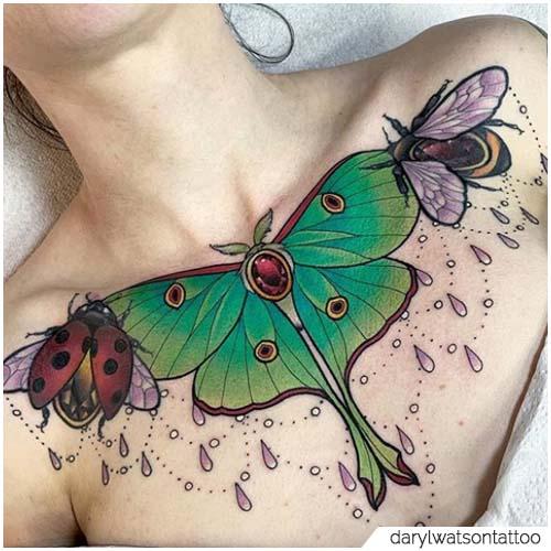 Tattoo Falena Sterno