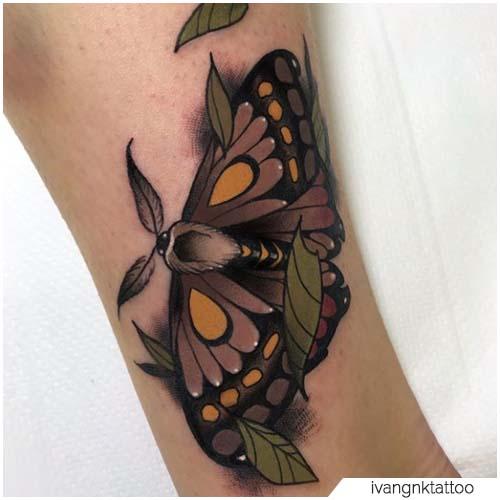 Tatuaggio Falena new school