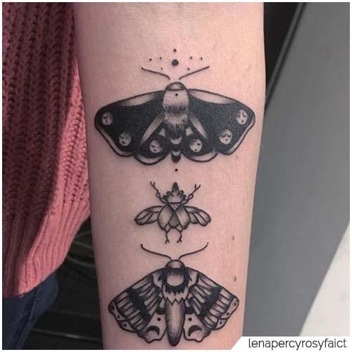Tatuaggio Falena famiglia