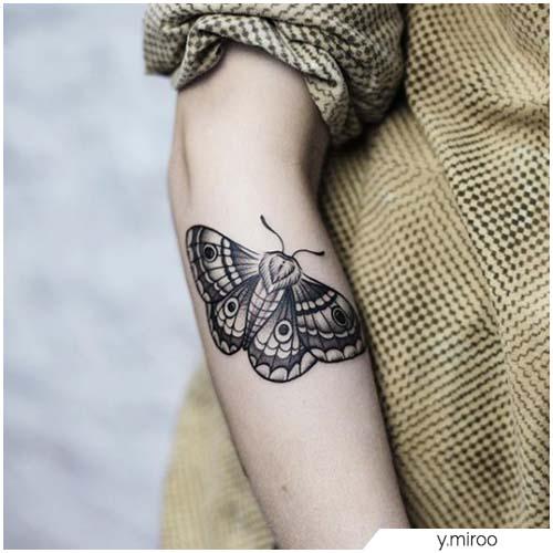 Tattoo Falena avambraccio