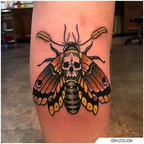 Tatuaggio Falena teschio