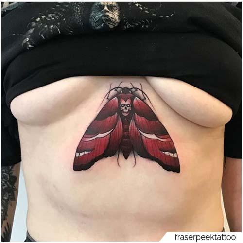 Tattoo Falena Seno