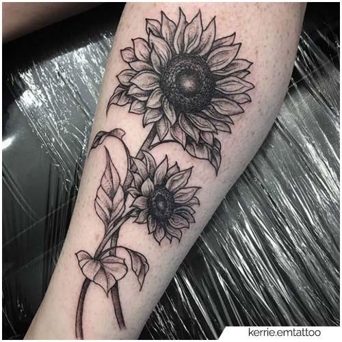 Tatuaje de girasol Stinco