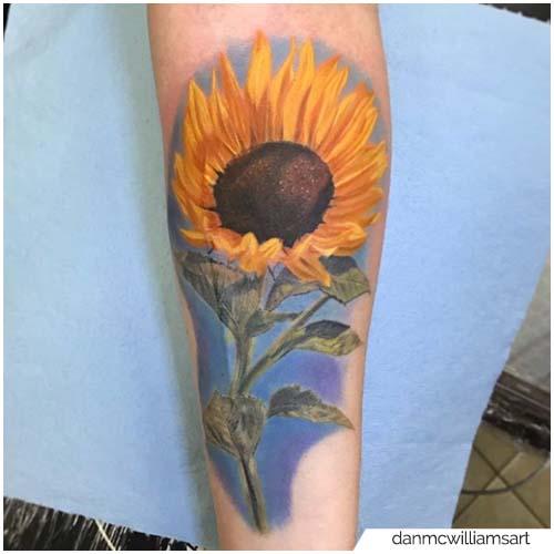 Tattoo Girasole Realistico