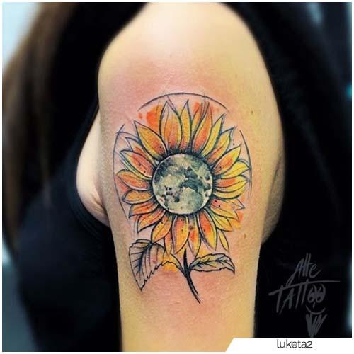 Tatuaggio Girasole Sketch
