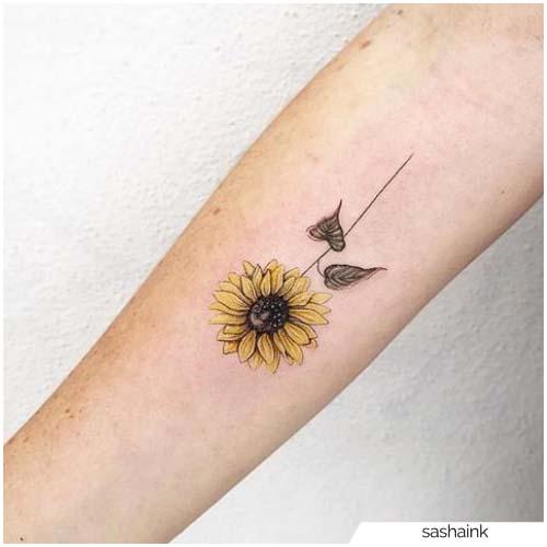 Tatuaggio Girasole Mini realistico