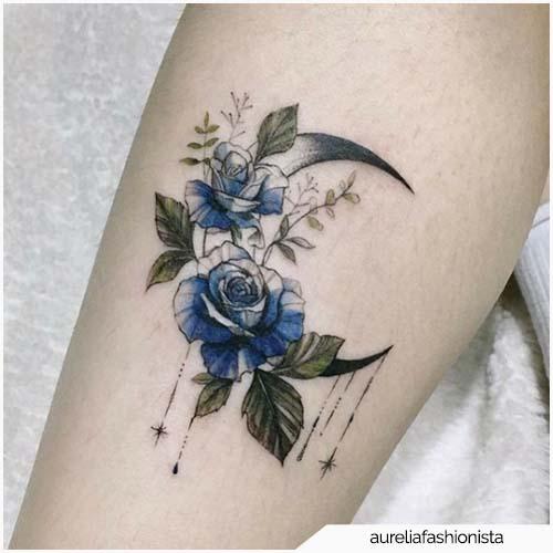tatuaggio luna fine