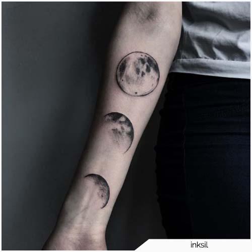 tatuaggio luna tre fasi