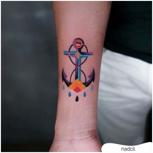 tattoo ancora surrealismo