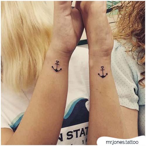 tattoo ancora amiche