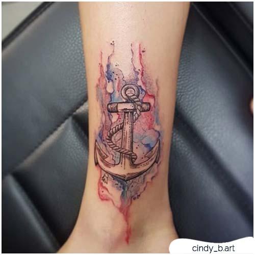 tattoo ancora watercolor