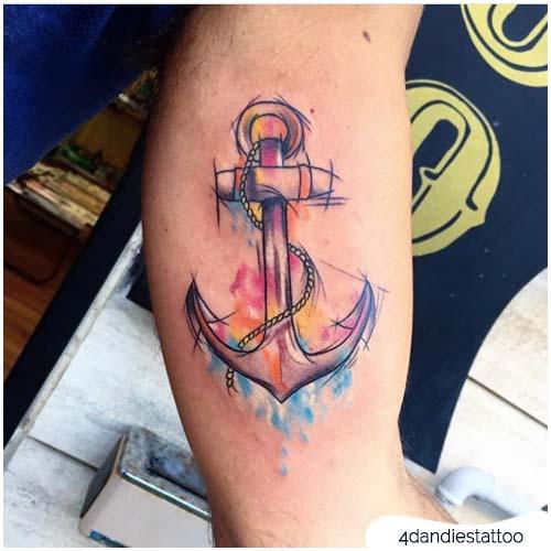 tattoo ancora sketch