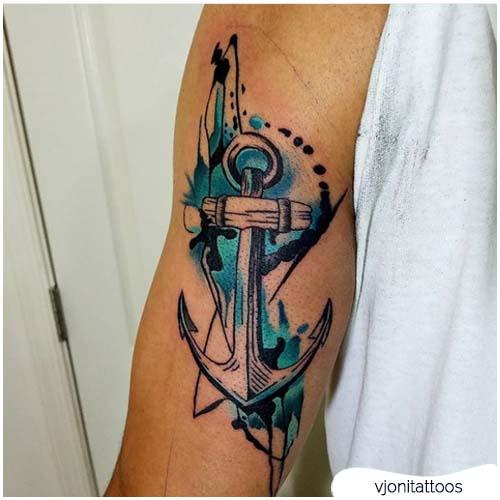 tattoo ancora blu