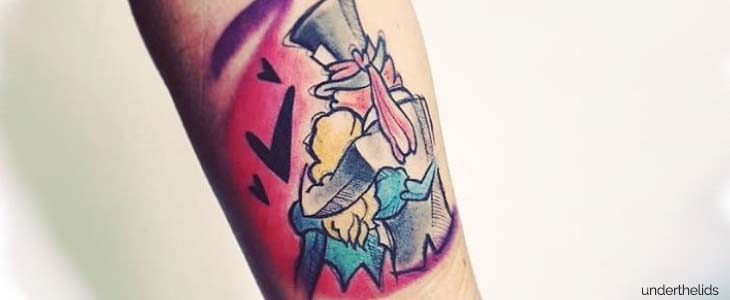 underthelids tattoo avambraccio