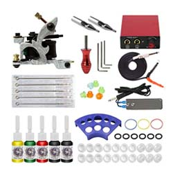 Kit de tatuaje para principiantes: ITATTOO Cheap Complete Tattoo Kit