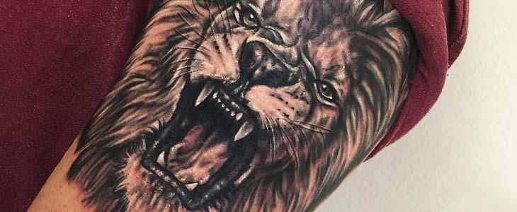 ejemplo de tatuaje de león