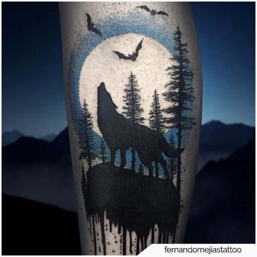 Tattoo Luna Lupo