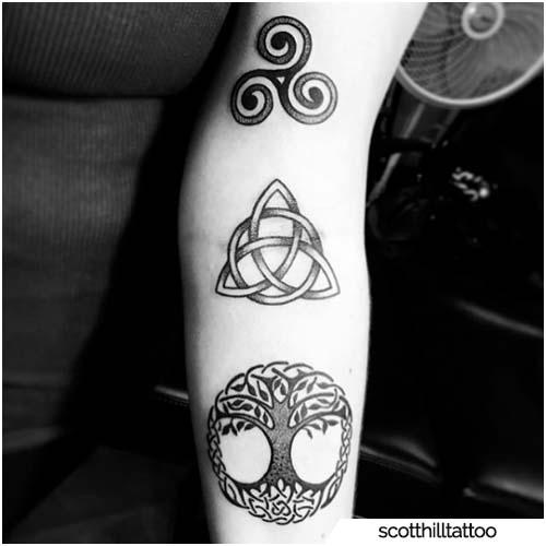 triquetra e altri simboli vichinghi