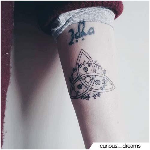 tattoo triquetra fasi lunari