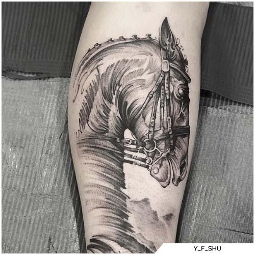 tatuaggio cavallo da corsa