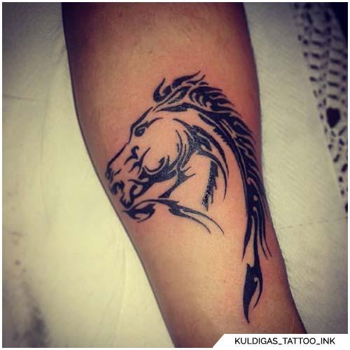tatuaggio cavallo tribale