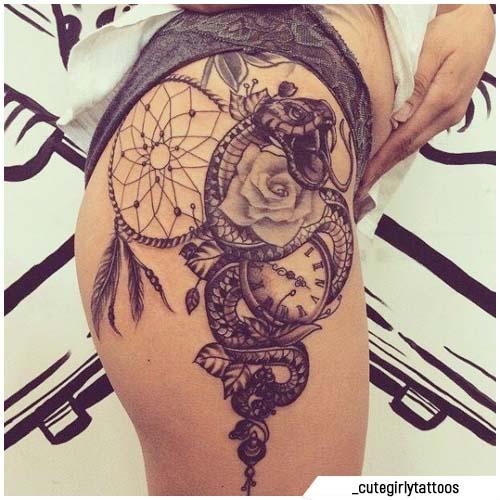 tattoo acchiappasogni serpente