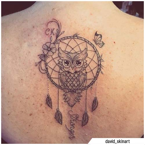 atraparsueños tatuajes buho