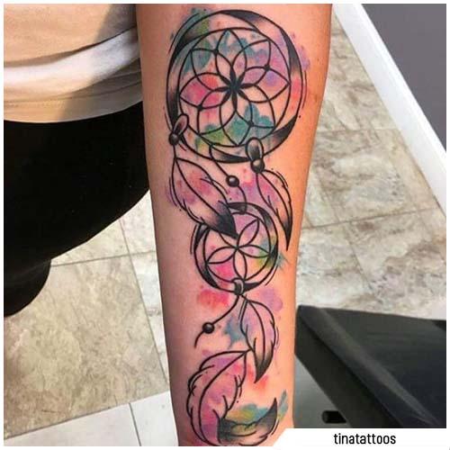 atraparsueños tatuajes watercolor