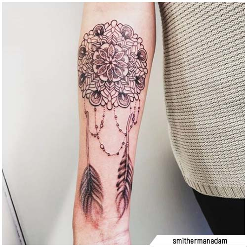 tattoo acchiappasogni mandala