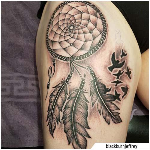tattoo acchiappasogni corvi